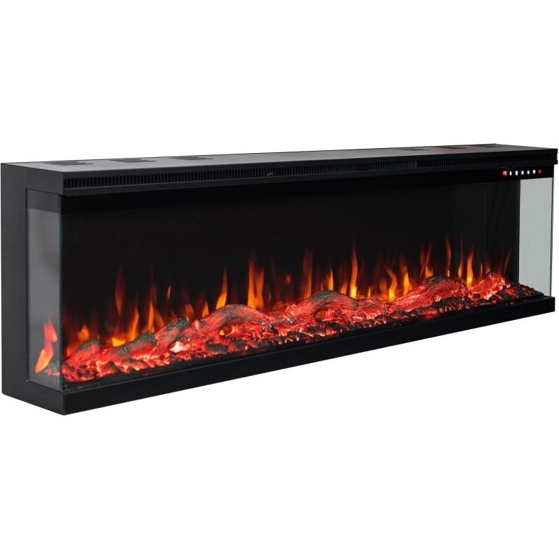 Aflamo Unique 107 Electric Wall Mounted, Fake Fireplace Heater Insert