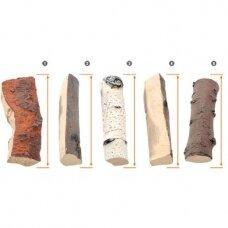 AKOWOOD ID02 dekoratyvinės keramikinės malkos biožidiniams įvairios
