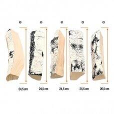 AKOWOOD ID05 dekoratyvinės keramikinės malkos biožidiniams beržinės