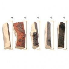 AKOWOOD ID06 dekoratyvinės keramikinės malkos biožidiniams įvairios
