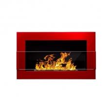 BIOHEAT 650x400 TUV RED LESS GLASS biožidinys įmontuojamas - pakabinamas su stiklu raudonas blizgus