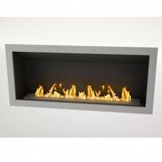 ICON FIRES SLIMLINE FIREBOX RANGE 1350 INOX biožidinys įmontuojamas