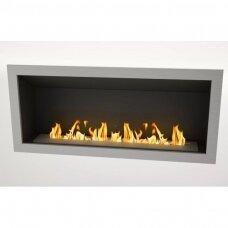 ICON FIRES SLIMLINE FIREBOX RANGE 1650 INOX biožidinys įmontuojamas