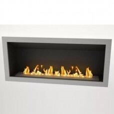 ICON FIRES SLIMLINE FIREBOX RANGE 2000 INOX biožidinys įmontuojamas
