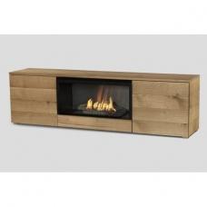 PLANIKA PURE FLAME TV BOX OAK pastatomas biožidinys TV staliukas